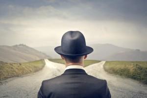 La elección entre dos caminos.